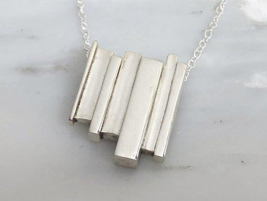 Sterling Silver Contemporary Necklace | Silver Sculptor