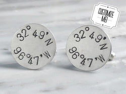 Custom Coordinate Cufflinks | Silver Sculptor