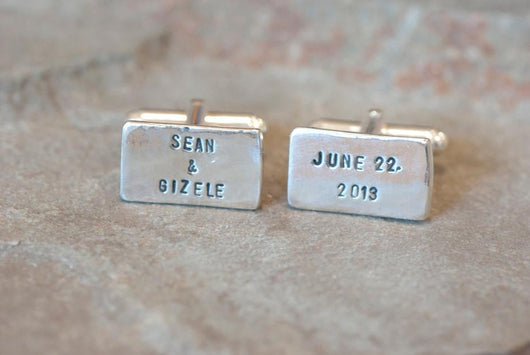 Personalized Wedding Cufflinks For Grooms | Silver Sculptor