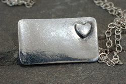 Love Heart Necklace | Silver Sculptor