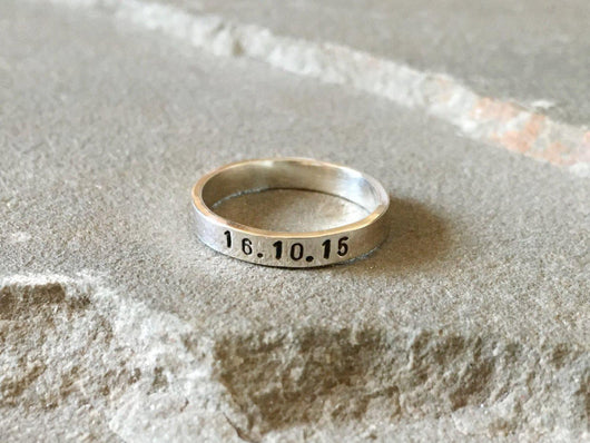 Special Date Stacking Ring | Silver Sculptor