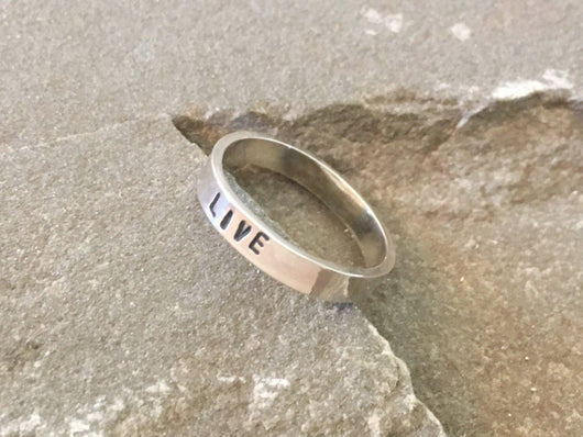 Personalized Live Affirmation Ring | Silver Sculptor