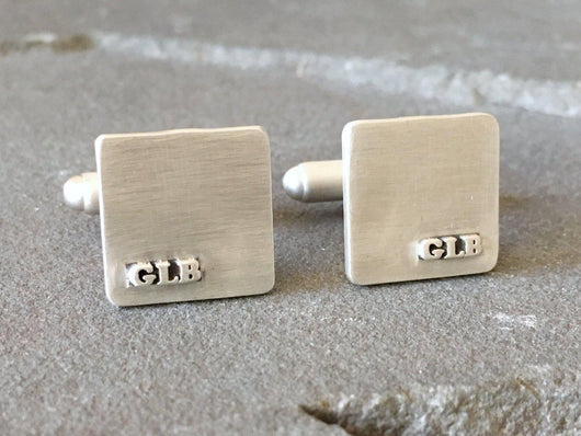 Personalized Monogrammed Wedding Cufflinks | Silver Sculptor