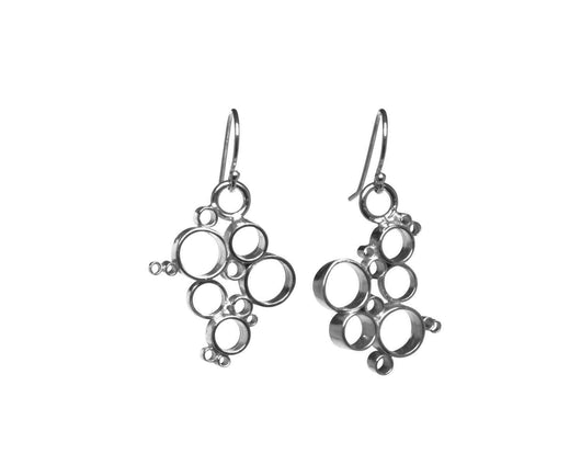 Sterling Silver Bubble Statement Earrings | Silver Sculptor