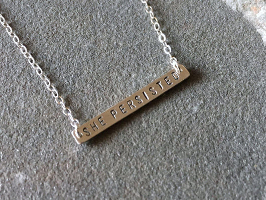 She Persisted Necklace | Silver Sculptor