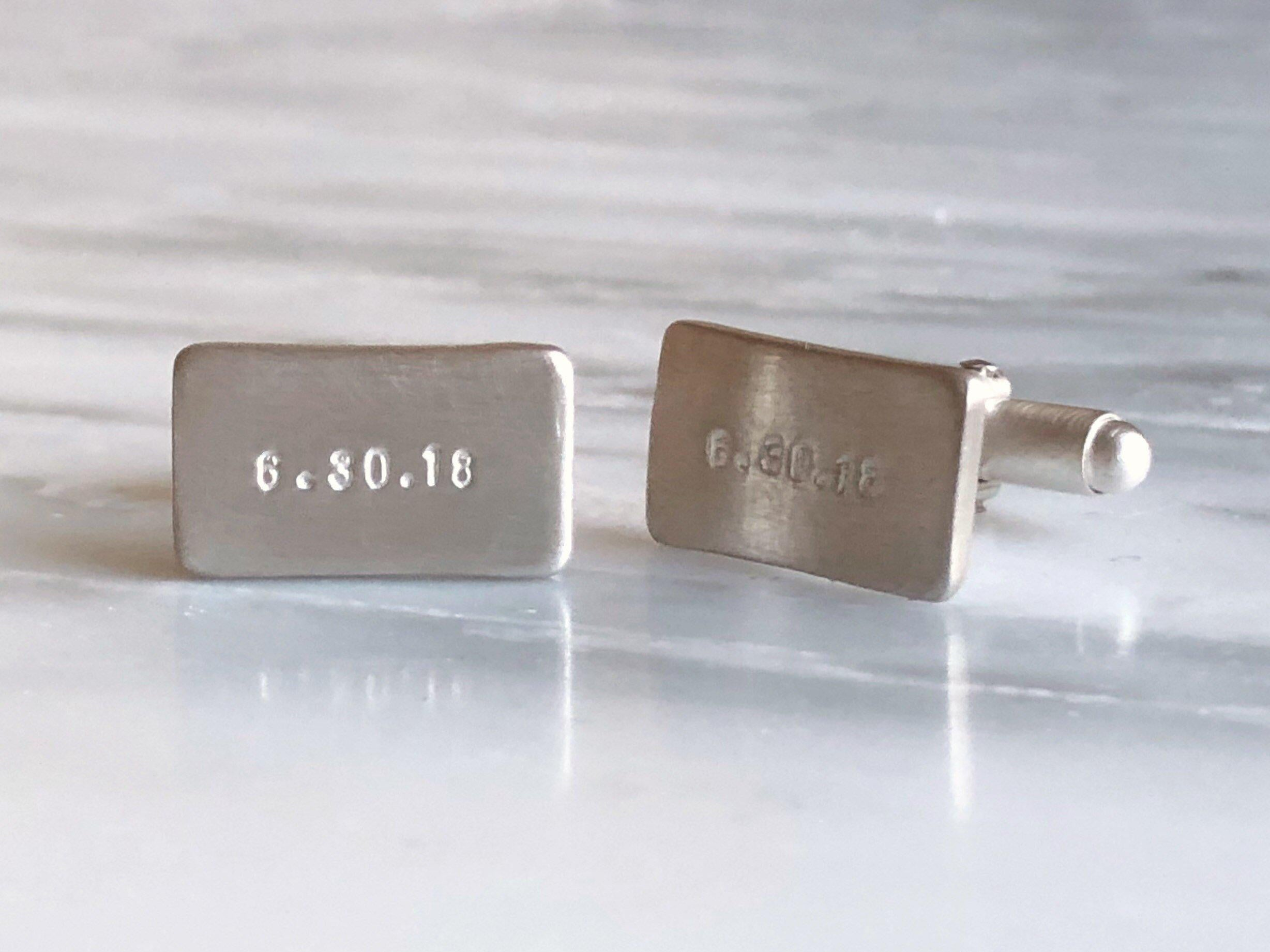 Special Date Cuff Links Sterling Silver | Silver Sculptor