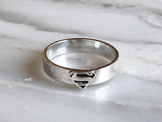 Sterling Silver Supergirl Ring | Silver Sculptor