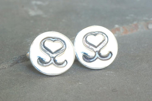Your Wedding Monogram on Cufflinks | Silver Sculptor