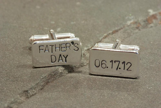 First Father's Day Cufflinks | Silver Sculptor