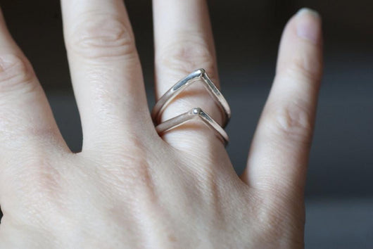 Sterling Silver Tear Drop Ring | Silver Sculptor