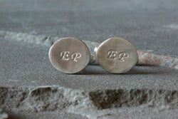 Custom Hand Stamped Cufflinks | Silver Sculptor