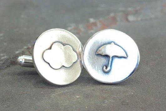 Sterling Silver Weather Meteorological Cufflinks | Silver Sculptor