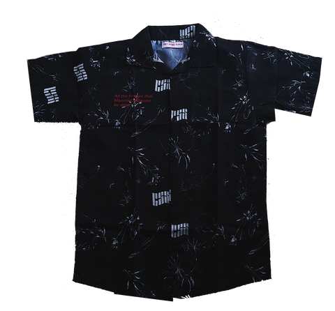 Blooming Flowers Button up - Black [PREORDER]