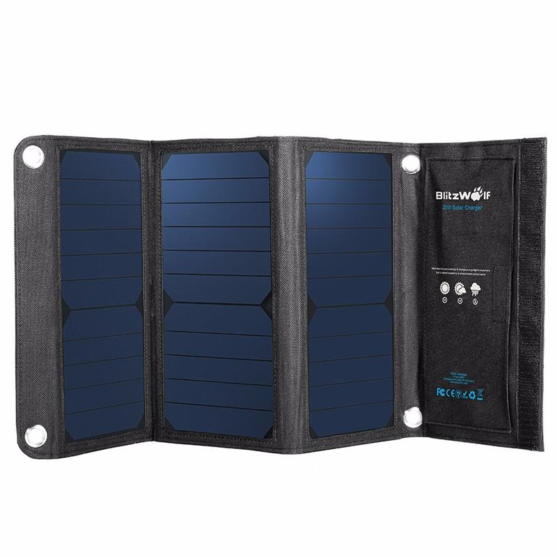 5ed5e94b79247 Portable Solar Power Bank 20W 3A Charger with USB – Vogue And Valor