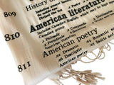 Literary Print Luxe Scarf