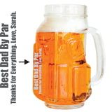 Personalized Golf Beer Mugs for Dad (4 Pack)