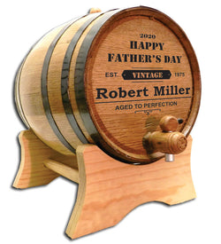 Dad's Whiskey & Wine Barrel