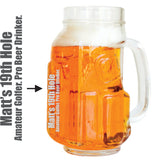 Personalized Golf Beer Mugs (4 Pack)