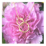 Two Interlocking Circles Branch Necklace