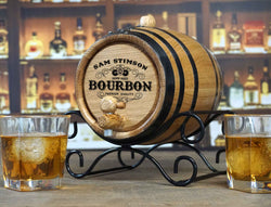 Personalized Bourbon Making Kit with Barrel