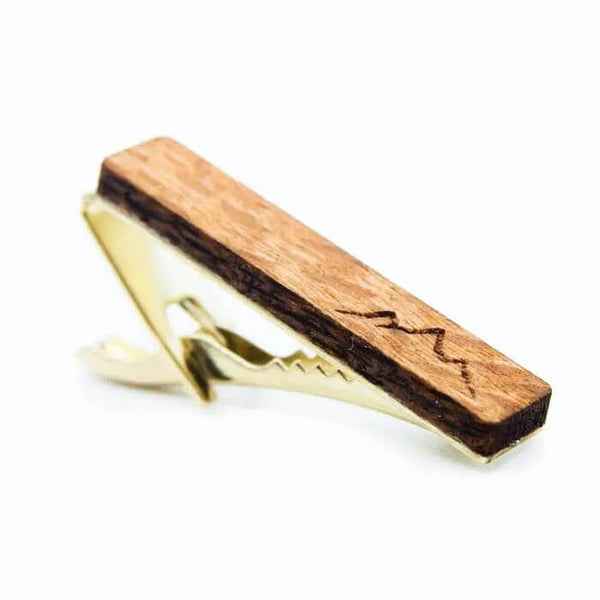 Real Wood Tie Clip