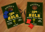 Personalized Golf Corn Hole Game