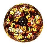 Fall Leaves Glass Lamp