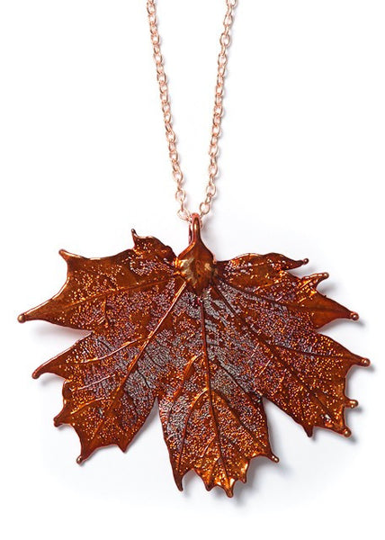 Real Sugar Maple Leaf Necklace