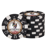 Personalized Poker Chip Set with Case (500 Chips)