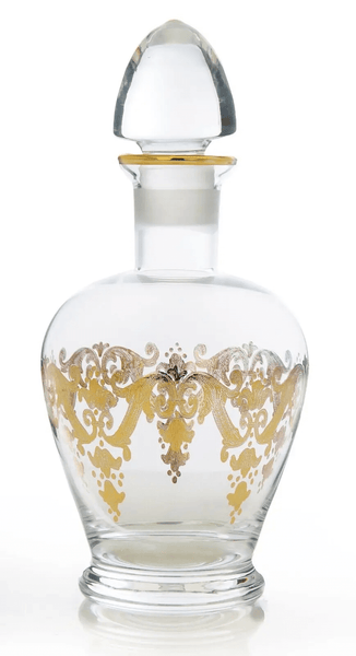 Liqueur Bottle With 24K Gold Etching