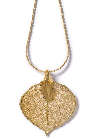 Real Aspen Leaf Necklace