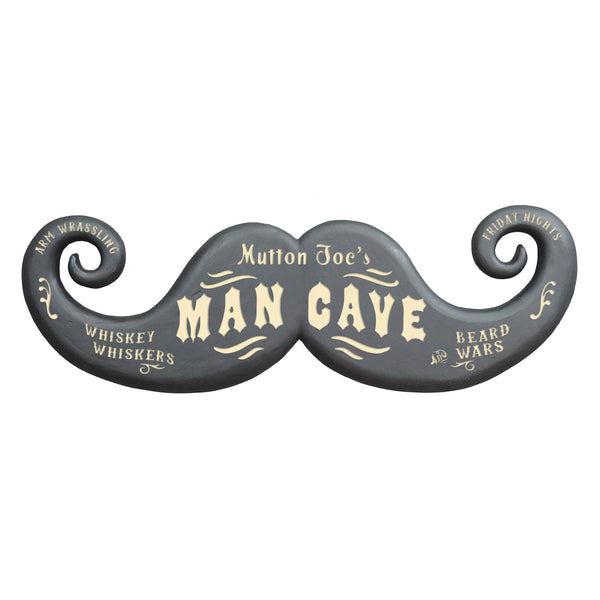 Personalized Mustache Sign
