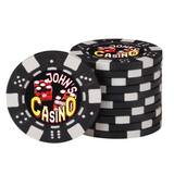 Personalized Poker Chip Set with Imprinted Leatherette Case (100 Chips)