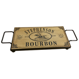 Personalized Serving Board w/ Wrought Iron Base