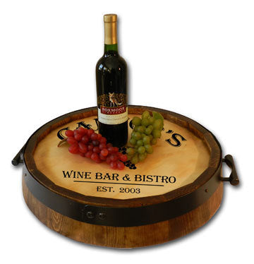 Personalized Quarter Barrel Serving Tray