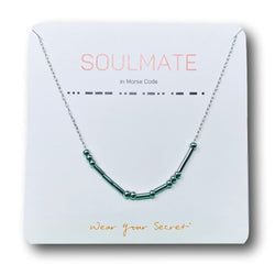 """SOULMATE"" Morse Code Necklace"