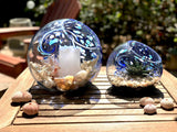Handblown Art Glass Terrarium / Candle Holder
