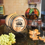 Personalized Whiskey Barrel - Vineyards