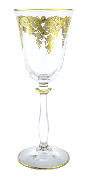 Wine Glass With 24K Gold Art (Set of 6)