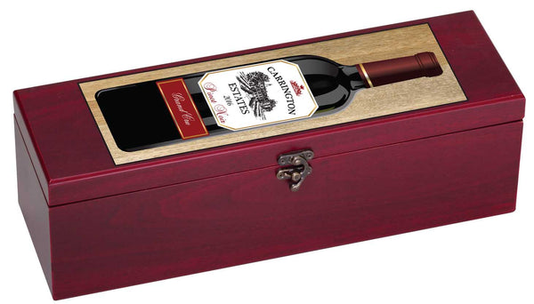 Personalized Wine Box with Tools & Black Lining