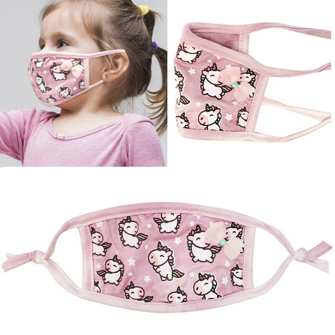 Pink Unicorn Face Mask. Reusable. Washable. www.jkembers.com