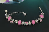 (New) Breast Cancer Awareness Charm Bracelet Silver