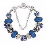 Handmade Colon Cancer Awareness Charm Bracelet