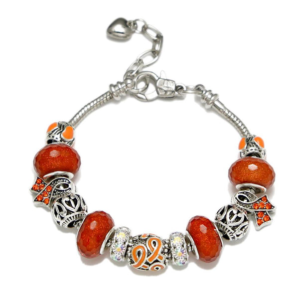 (New) Leukaemia Awareness Charm Bracelet Silver