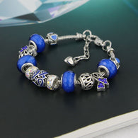 Handmade Colon Cancer Awareness Charm Bracelet Limited Edition