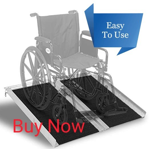 Multi Purpose Foldable Wheelchair Ramp - 2 Foot