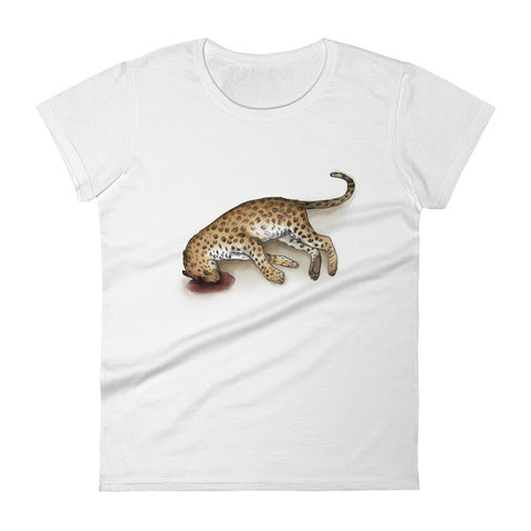Amur Leopard Killed by a Poacher Short Sleeve Women's T-Shirt