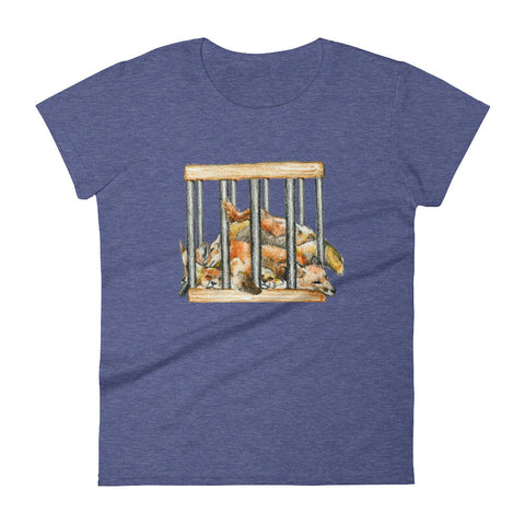 Foxes in a Box Women's T-Shirt Say No to Skinning For Fashion