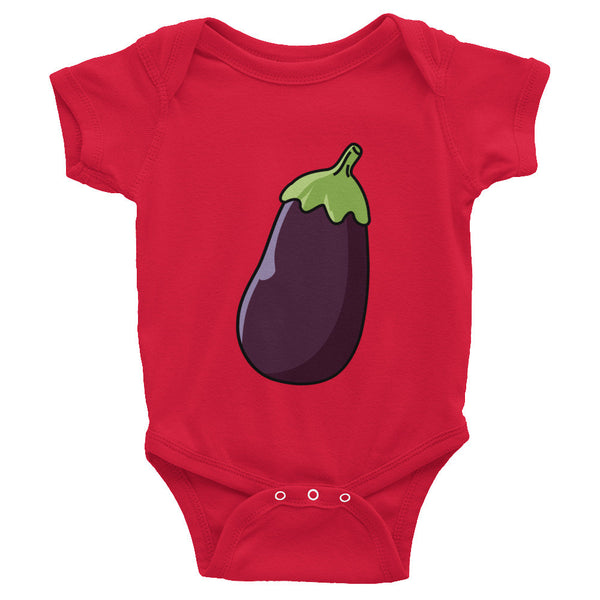 Infant Short Sleeve One-Piece Eggplant Onesie