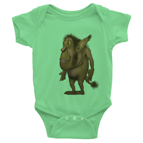 Infant Short Sleeve One-Piece Adorable Gnome